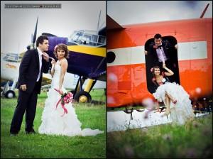 Sesja ślubna na lotnisku w Przylepie